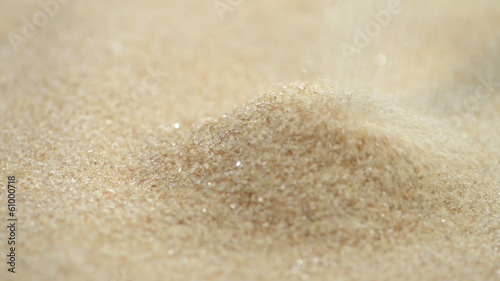 Heap of Brown Sugar (close-up full HD video file)