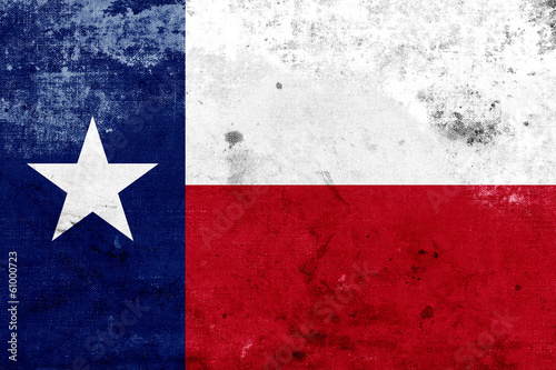 Grunge Texas State Flag