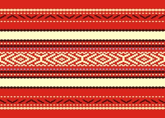 Bulgarian seamless decorative traditional  design pattern
