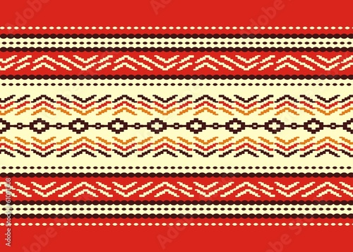 Bulgarian seamless traditional national design pattern