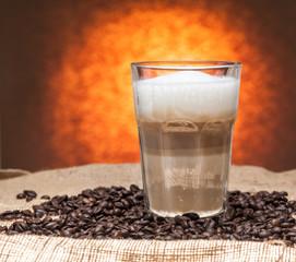 Latte in a glass..