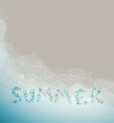SUMMER / Season background with sea and sandy beach