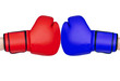 red and blue gloves boxing odds over white background