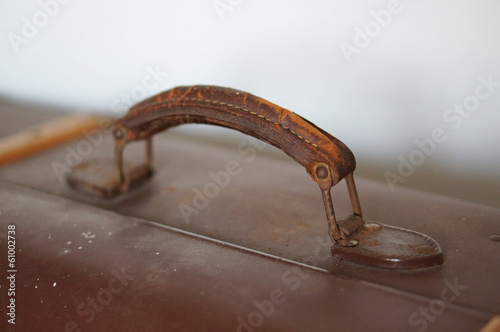 old suitcase handle