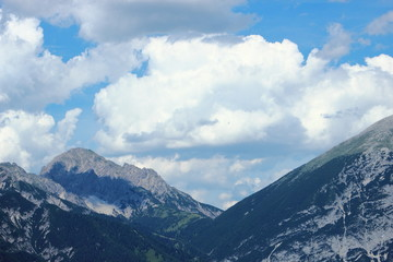 Mountain range and sky in the Austrian Alps