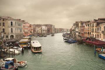 Venezia great canal in a rainy day