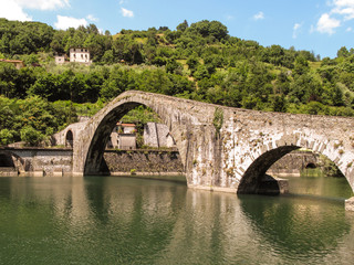 Medieval Bridge in Italy