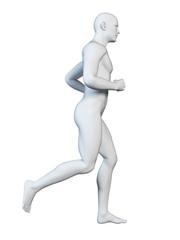 3d rendered illustration - stylized jogger