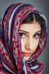 woman wearing head scarf