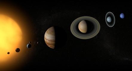 Sistema solare pianeti spazio universo sole