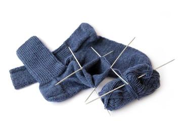 Socken selbstgestrickt