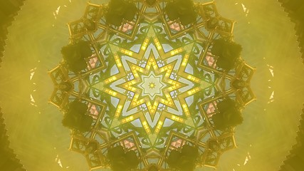 Colorful kaleidoscopic video background loop