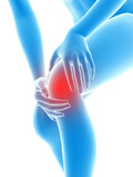 3d rendered illustration - woman having pain in the knee