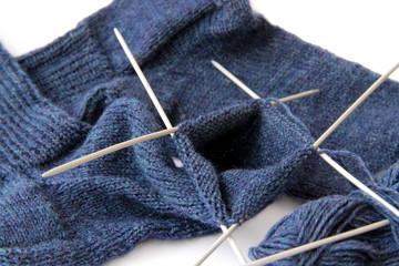 Socken mit Nadelspiel