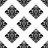 Foliate arabesque motifs in a diamond pattern