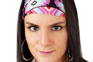 Gypsy woman staring
