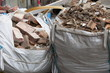 Full construction waste debris bags