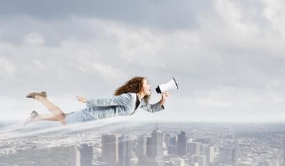 Flying superwoman