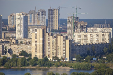 Construction of residential district in Kiev.