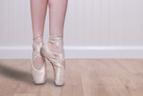 Perfect Ballet Dancer En Pointe With Copy Space