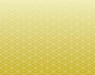 和風 菱文 金色背景