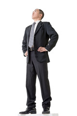 Confident businessman standing