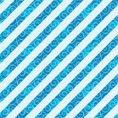 Seamless white-blue diagonal pattern