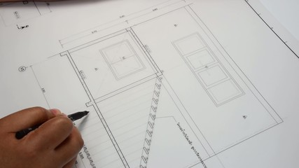 An architect is designing a stairway length his architect plan