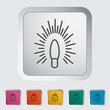 Bulb flat icon.