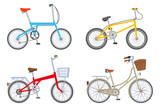 Four Bicycle set, Isolated