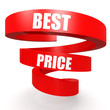 Best price red helix banner