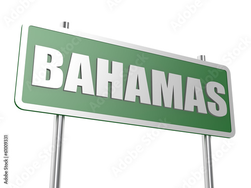 Bahamas road sign