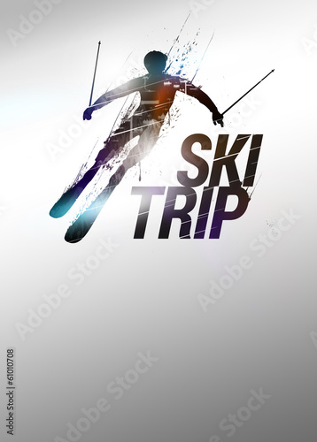 Skiing background