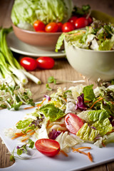 light vegetable salad