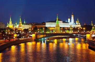 Moscow Kremlin in summer night