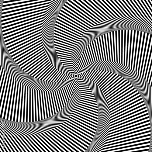 Rotation movement illusion. Abstract op art background.