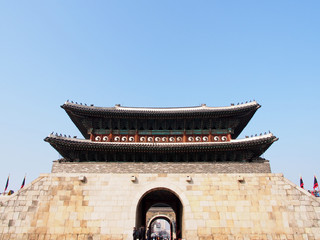 Janganmun Gate of Hwaseong Fortress in Suwon, South Korea