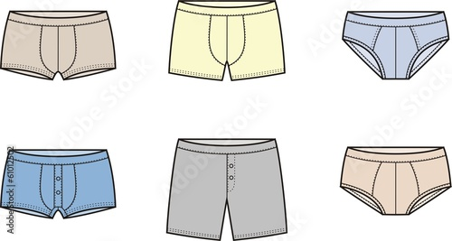 Vector illustration of men's underpants - 61012502