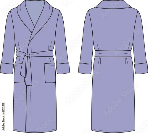 Vector illustration of men's bathrobe
