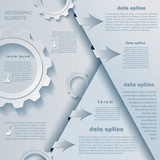 Modern infographics design with cogwheels and numbers