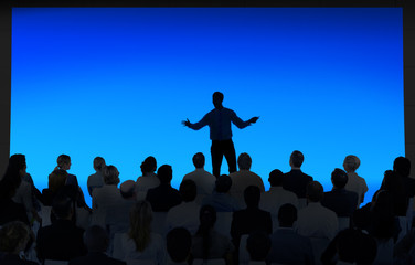 Silhouette of Large Business Presentation