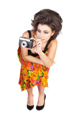 sexy woman with camera
