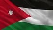 Flag of Jordan waving in the wind - seamless loop