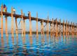 .Bridge U-Bein teak bridge is the longest.