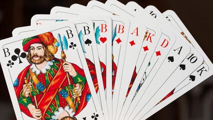 Karten spielen - Skat - Grand mit vier Buben