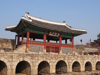 Hwahongmun of Hwaseong Fortress in Suwong, South Korea