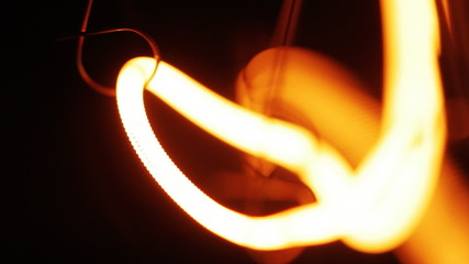 Incandescence thread, close up.
