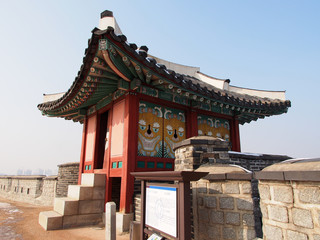 Dongbuk Poru of Hwaseong Fortress in Suwon, South Korea