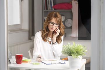 Close-up portrait of modern businesswoman