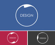 Abstract glossy circle icon design.